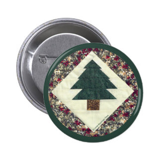 Quilted Pine Tree Button