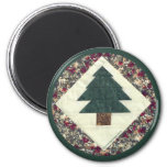 Quilted Pine Tree Fridge Magnet