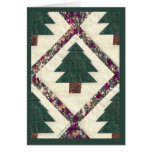 Quilted Pine Tree Greeting Cards