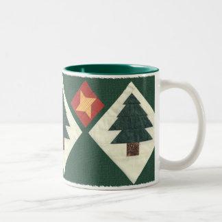 Quilted Pine Tree Coffee Mug