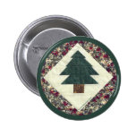Quilted Pine Tree Pins