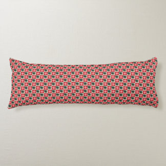 Quilted Pine Trees and Red Stars Body Pillow