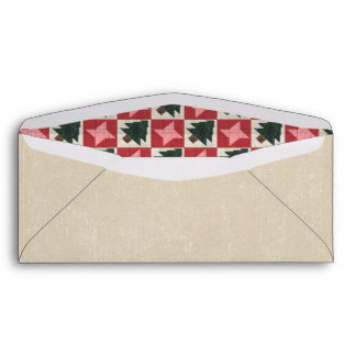 Quilted Pine Trees and Stars Envelope