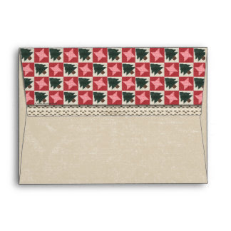Quilted Pine Trees and Stars Envelopes