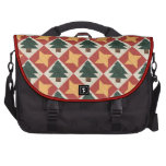Quilted Pine Trees and Stars Laptop Bag