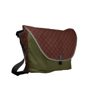 Quilted Rainbow Diamonds Patterned Messenger Bag