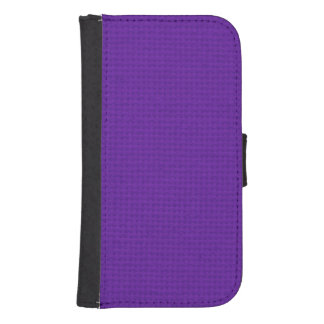 Quilted Royal Purple Galaxy S4 Wallet Case
