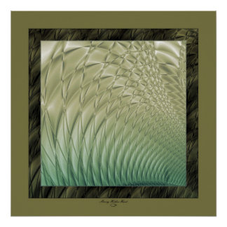 Quilted Satin Green Poster