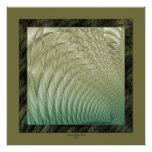 Quilted Satin Green Posters