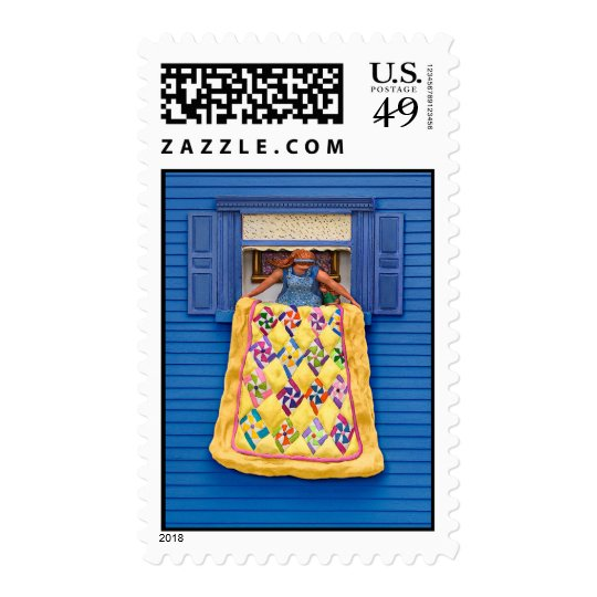Quilted Showing Postage