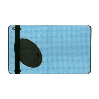 Quilted Sky Blue iPad Folio Case