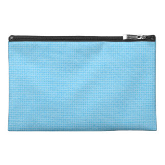 Quilted Sky Blue Travel Accessories Bags