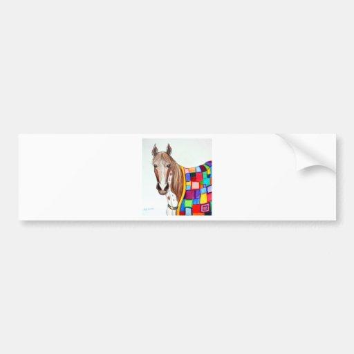Quilted Stallion Car Bumper Sticker