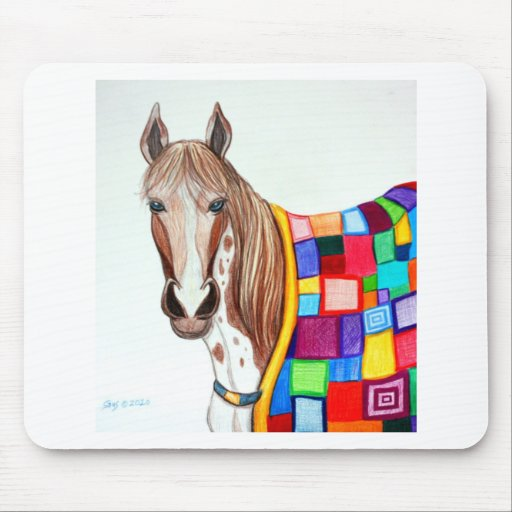Quilted Stallion Mouse Pad