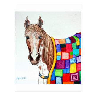 Quilted Stallion Postcard