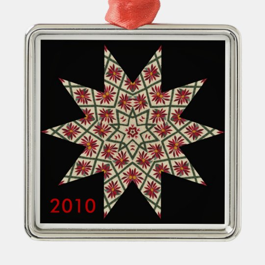 Quilted Star Pattern Ornament