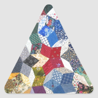 Quilted Stars Triangle Sticker