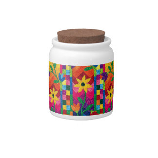 Quilted Sunflower Candy Jar