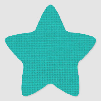Quilted Teal Star Sticker