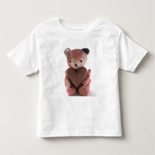 quilted teddy bear with heart toddler shirt