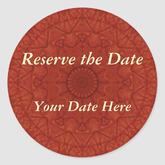 Quilted Tomato Reserve the Date Sticker