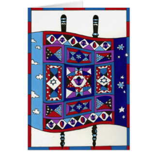Quilted Torah Greeting Card