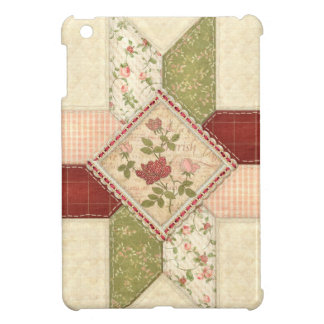 Quilted Vintage Roses iPad Mini Case