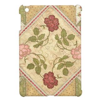 Quilted Vintage Roses iPad Mini iPad Mini Cover