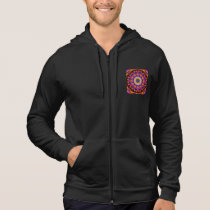Quilted Wagon Wheels, Abstract Rainbow Design Hoodie
