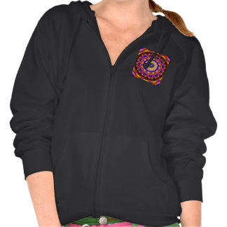 Quilted Wagon Wheels, Abstract Rainbow Design Hoody