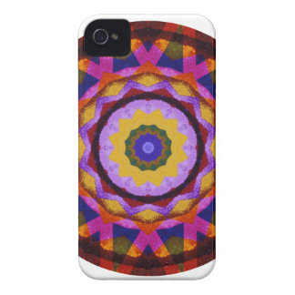 Quilted Wagon Wheels Mandala, Abstract Fun iPhone 4 Cases