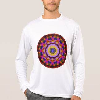 Quilted Wagon Wheels Mandala, Abstract Fun T-Shirt