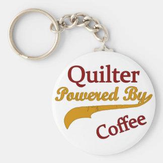 Quilter accionó por el café llavero redondo tipo pin