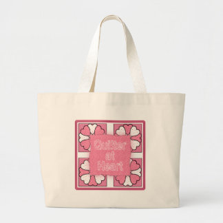 Quilter At Heart Large Tote Bag