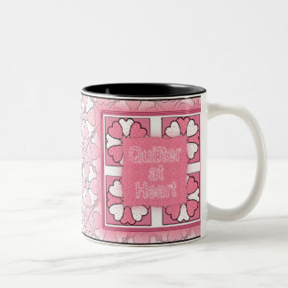 Quilter At Heart Two-Tone Coffee Mug