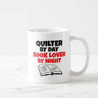 Quilter by Day Book Lover by Night Classic White Coffee Mug