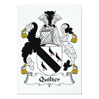 Quilter Family Crest 5x7 Paper Invitation Card