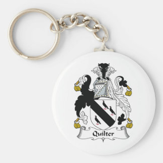 Quilter Family Crest Keychains