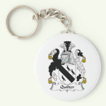 Quilter Family Crest Keychain