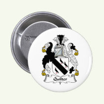 Quilter Family Crest Button