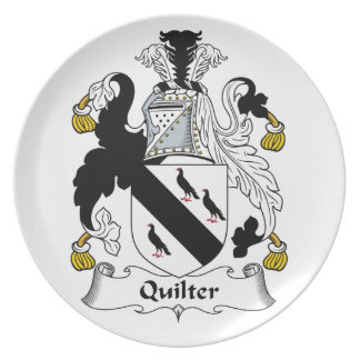 Quilter Family Crest Plate