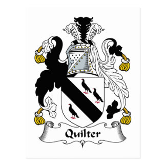 Quilter Family Crest Postcard