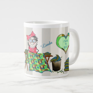 QUILTER MELODY JUMBO COFFEE/SOUP MUG - QUILTS