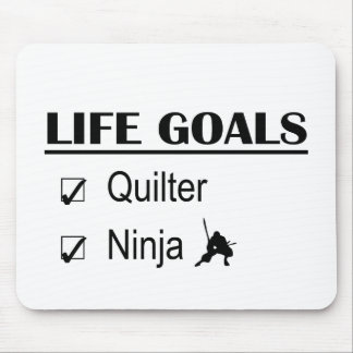 Quilter Ninja Life Goals Mouse Pad