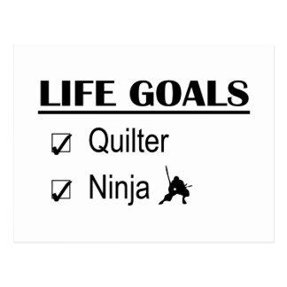 Quilter Ninja Life Goals Postcard
