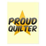 Quilter orgulloso postal