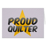 Quilter orgulloso tarjeton