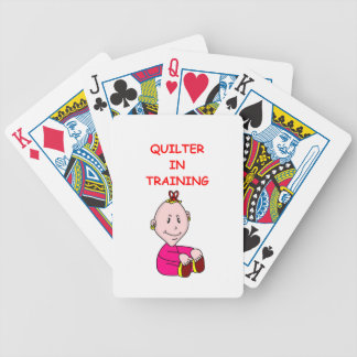 QUILTER BICYCLE PLAYING CARDS