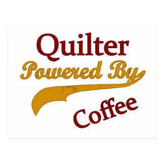 Quilter Powered By Coffee Postcard