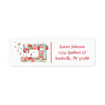 Professional Business Quilter Sewing Machine Address Labels